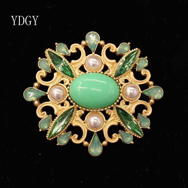Ydgy High-End Fashion Enamel Pearl Bunga Matahari Bros Gadis Sederhana Gaya Aksesoris Bros