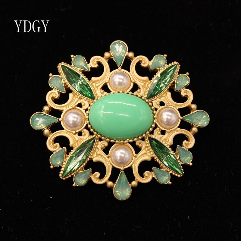 YDGY High-end Fashion Enamel Pearl Sunflower Brooch Simple Girl Style Accessories Brooch