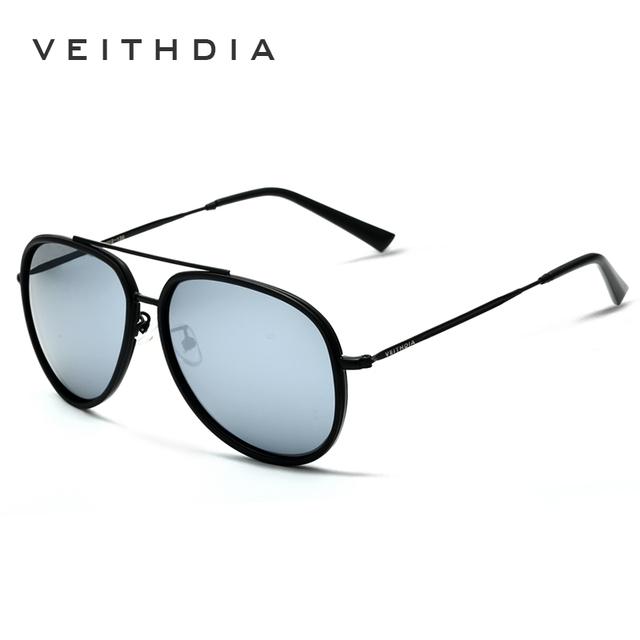 VEITHDIA Brand Fashion Sun Glasses Polarized Color Coating Mirror Sunglasses Male Oculos masculino For Men