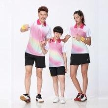 Китайская одежда для команды бадминтона для мужчин/женщин для влюбленных родителей и детей, рубашка для бадминтона, спортивная одежда для тенниса, рубашка для бадминтона, Джерси