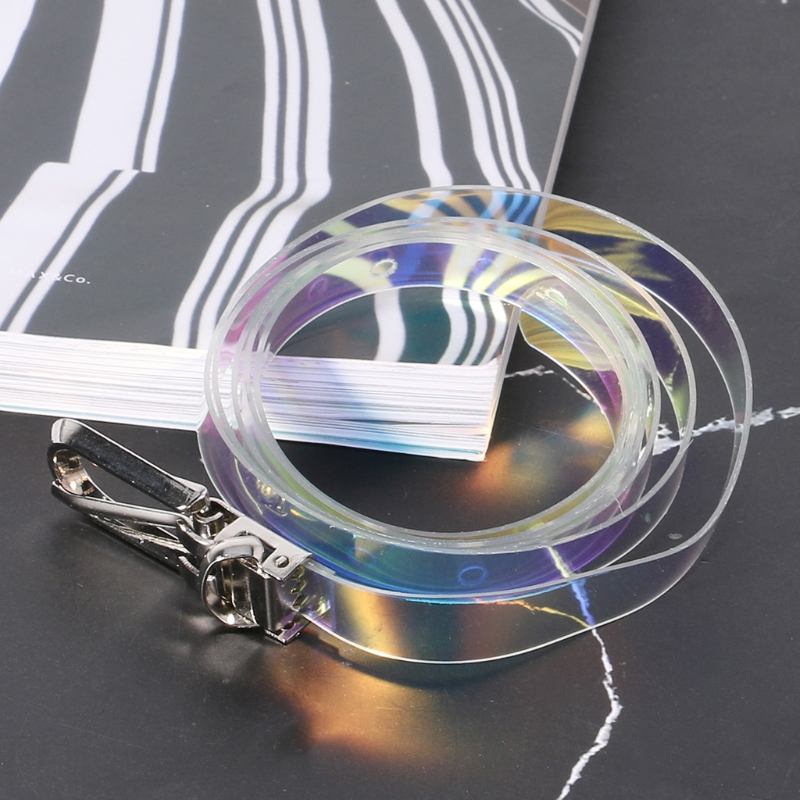 Women's Waist   Belt   Transparent Laser Invisible Colorful   Belts   Fashion Slim   Belt   For Women Trousers Dress