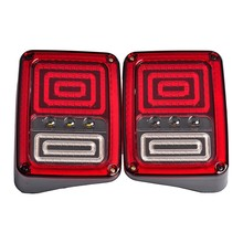 High quality 07-16 Wrangler JK Black LED Rear Maze Tail Light Brake Turn Signal Reverse Pair (Fits: Wrangler) US / EU Standard