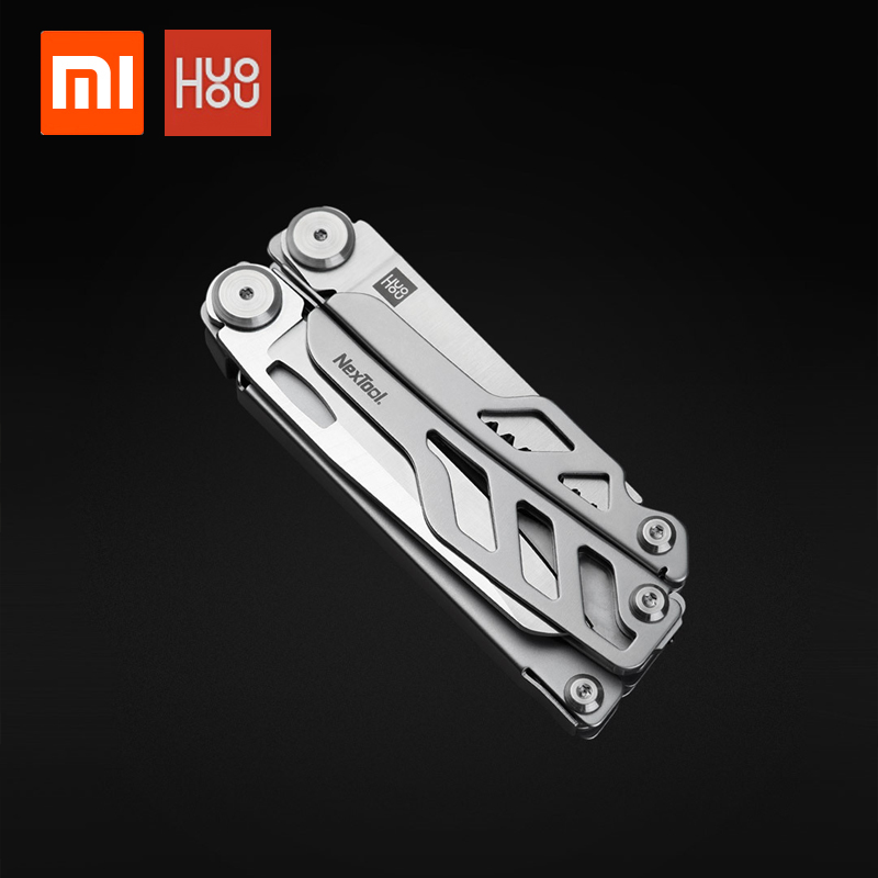 In stock xiaomi youpin huohou multi-function pocket folding knife 420J2 stainless steel blade hunting camping survival tool