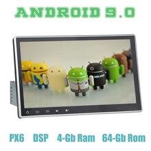 10,2 «Android 9,0 автомобиль радио GPS; Мультимедийный проигрыватель для 1 din с PX6 DSP wifi 4 + 64 ГБ ips Авто Радио Стерео нет компакт-диска