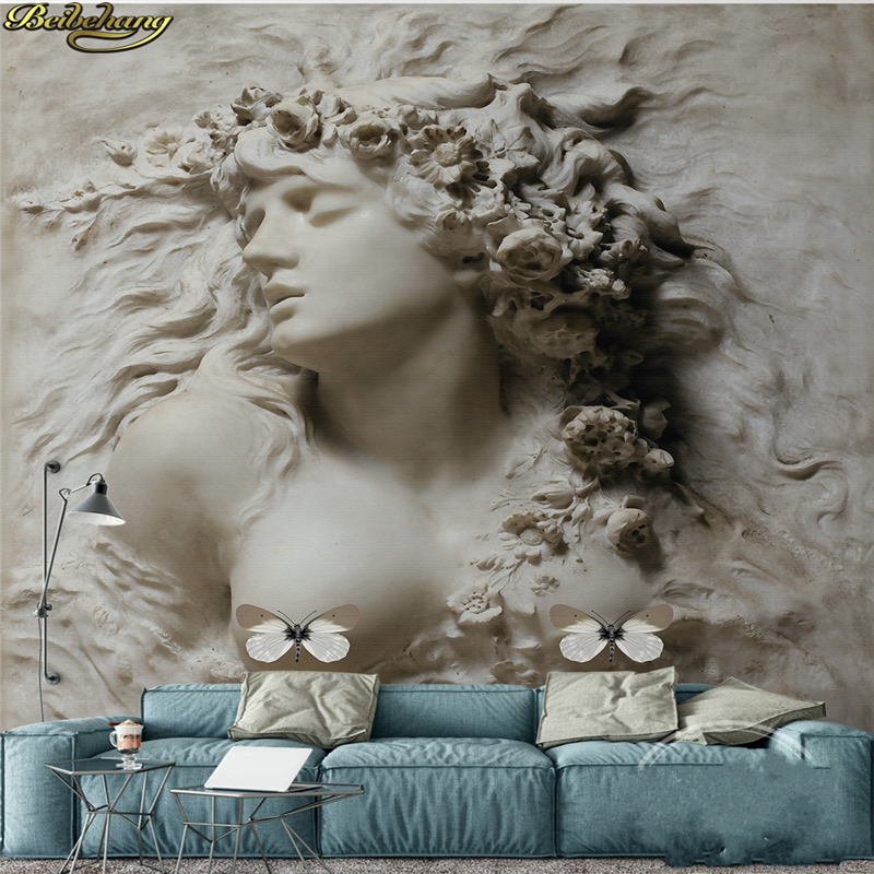 Beibehang Custom Photo Wallpaper Large Wall Paper Sticker 3D Relief Beauty Wall Background Wall Painting Papel De Parede