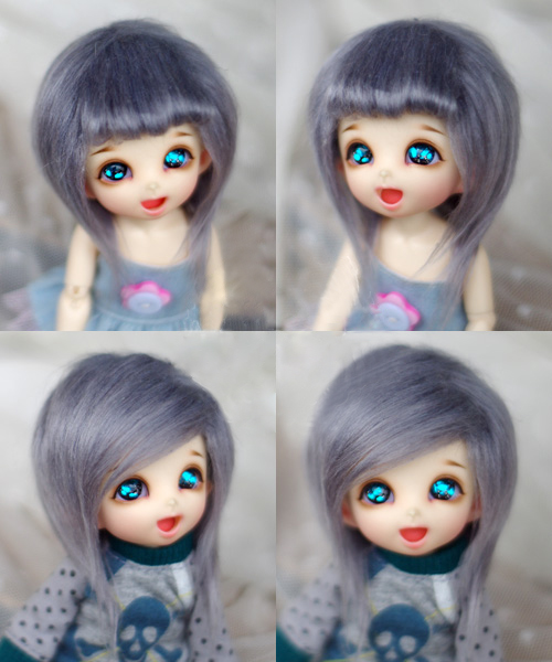 Lower Price with Jd Doll Fur Wig For 1/8 1/12 Bjd Doll Xaga Ae Pukifee Lati Gray Mid-length Straight Hair Fur Wigs Doll Accessories Relieving Heat And Thirst.