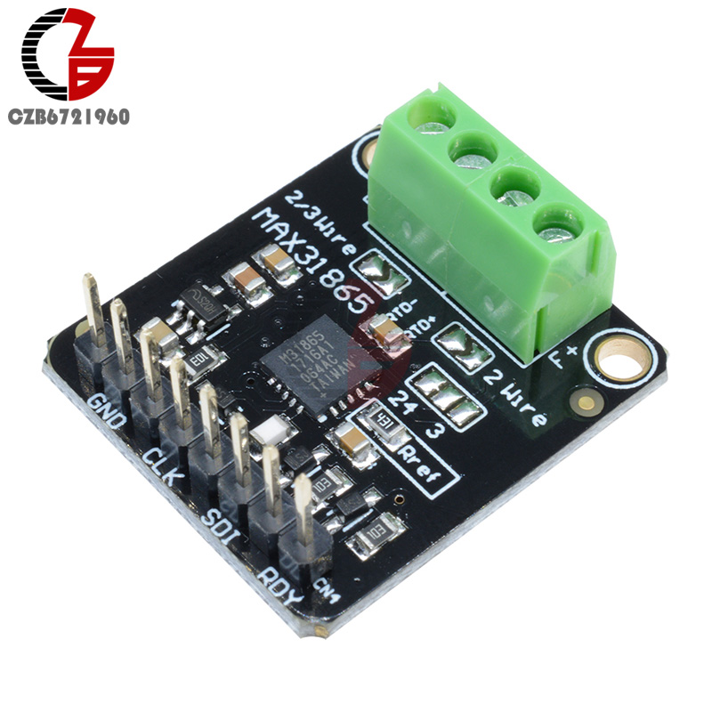 DC 3V-5V MAX31865 SPI PT100 to PT1000 RTD Converter Board Thermocouple Temperature Sensor Amplifier Detector Module for Arduino line hunting sensor module for arduino works with official arduino boards