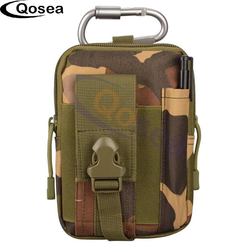Qosea мешок мобильного телефона утилита гаджет Пояс Военная Униформа Тактический поясная сумка Открытый Путешествия Спорт талии пакет 7 дюйм…