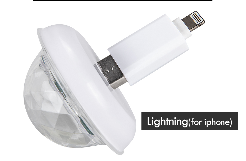 Mini USB led Party Lights Portable Crystal Magic Ball (23)
