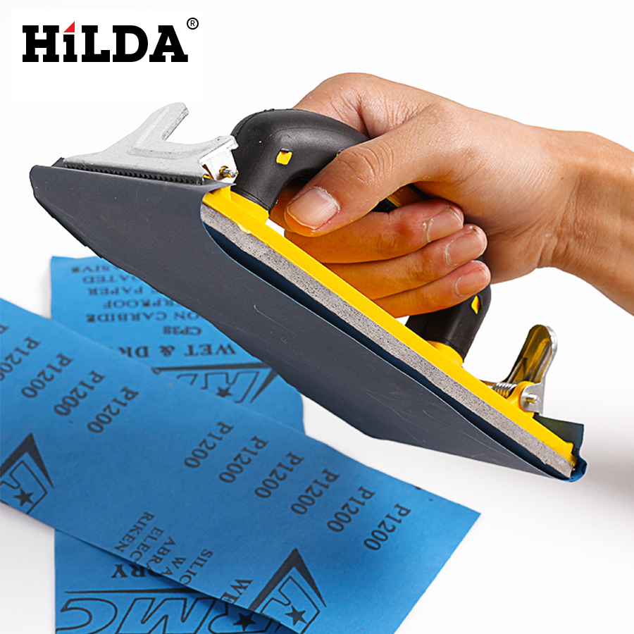 Hilda Sandpaper Holder Grinding Polished Tools For Walls Woodworking Polishing Sandpaper Holder Abrasive Tools