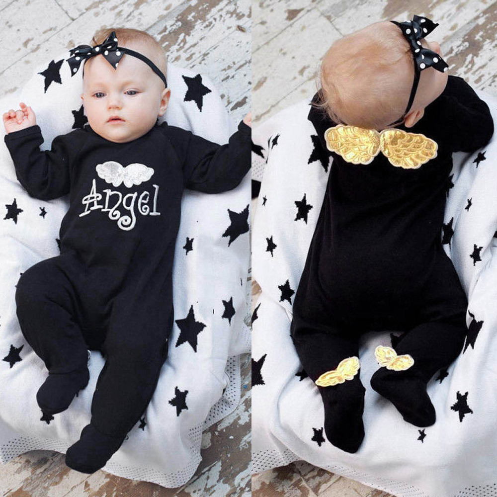 Diablo Skull Newborn Baby Boy Girl Romper Jumpsuit Long Sleeve Bodysuit Overalls Outfits Clothes