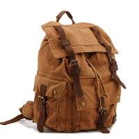 Retro Men Canvas Backpack Men S Bag Europe And The United States Brand Shoulder Bag Leisure
