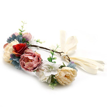HIYONG 2019 Lastest Hair Accessories Floral Headband Crown Flower Hairband Girls Headwear Hairbands