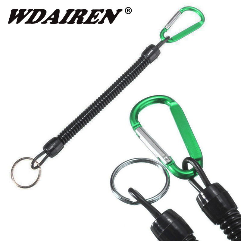 1Pcs Boating Kayak Fishing Secure Rope Fishing Rod Fish Pliers Lip Grips Tackle Tool Protect Lanyards Cord Rope With Carabiner