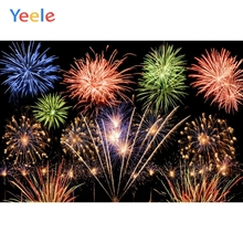 Yeele Christmas Photocall Fireworks New Year Party Photography Backdrops Personalized Photographic Backgrounds For Photo Studio