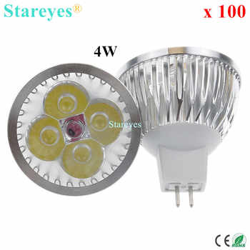 100 Pcs Dimmable MR16 4W 3W AC/DC12V LED Light LED Spotlight lamp Downlight LED bulb droplight LED Lamp LED Lighting spot light - DISCOUNT ITEM  13% OFF All Category