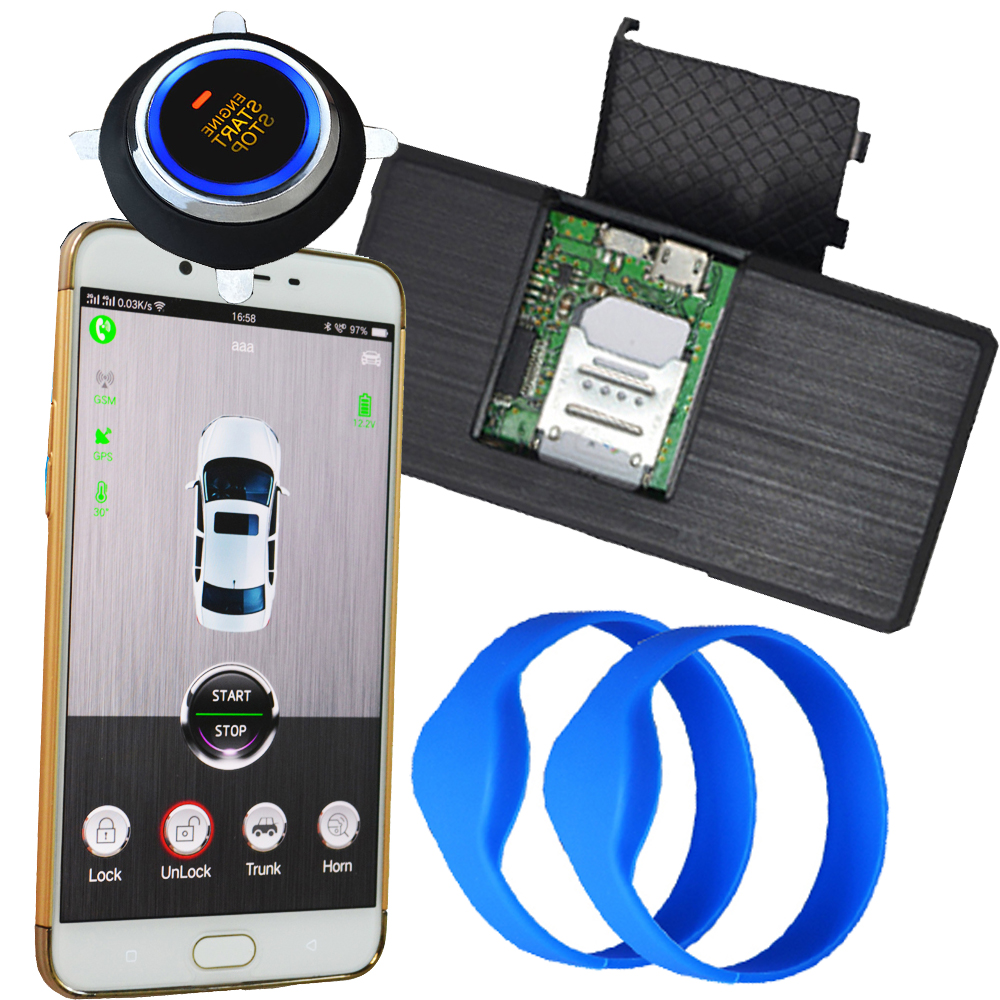 rfid engine start stop kit working with aftermarket car alarm system car mobile app real time online tracking car in google map ...