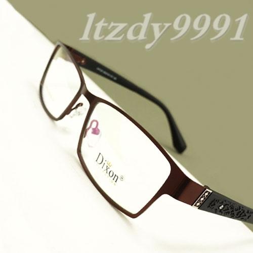 Marrón Rectangular de Metal Medio borde de la Prescripción Óptica MARCOS de ANTEOJOS HOMBRES Gafas RX Spectacle D9729 Eyewear