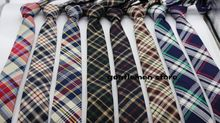 5 piece lot new men tie england tartan skinny tie cotton tie 5 5cm wide wholesale