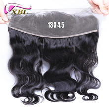 Xbl frontal ear to lace wave body closure virgin brazilian hair