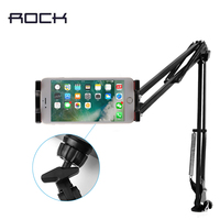 Newest ROCK 360 Degree Universal Rotation Flexible Tablet Holder For 4 0 12 9inch Smartphones Tablets