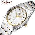 Relojes de pulsera Para Hombres de Las Mujeres Amantes de Los Relojes de Cuarzo de Los Rhinestones de Oro Señoras Reloj de Acero Inoxidable Relogio Feminino Reloj de Regalo 8677