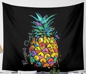 Image 5 - CAMMITEVER Onde Ananas Frutta Arazzo Poliestere Tende Più Copertura di Tabella Appeso A Parete Arazzo Decor