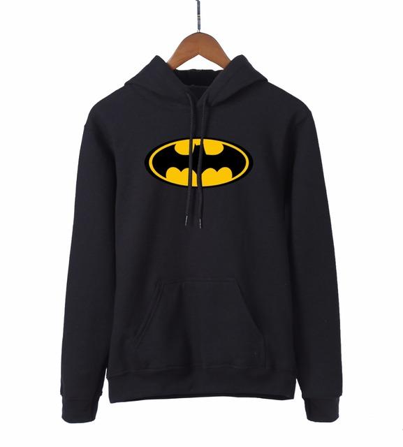 Super Hero Batman Brand Hooded Women 2018 Spring Autumn Kawaii Sweatshirts Women's Black Hoodies Warm Fleece Tracksuit For Fans