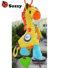 Sozzy Giraffe Bell Baby Music Crawl Toys Placate Toy Infant Plush Doll Musical Box Newborn Roller Bell Music Toys