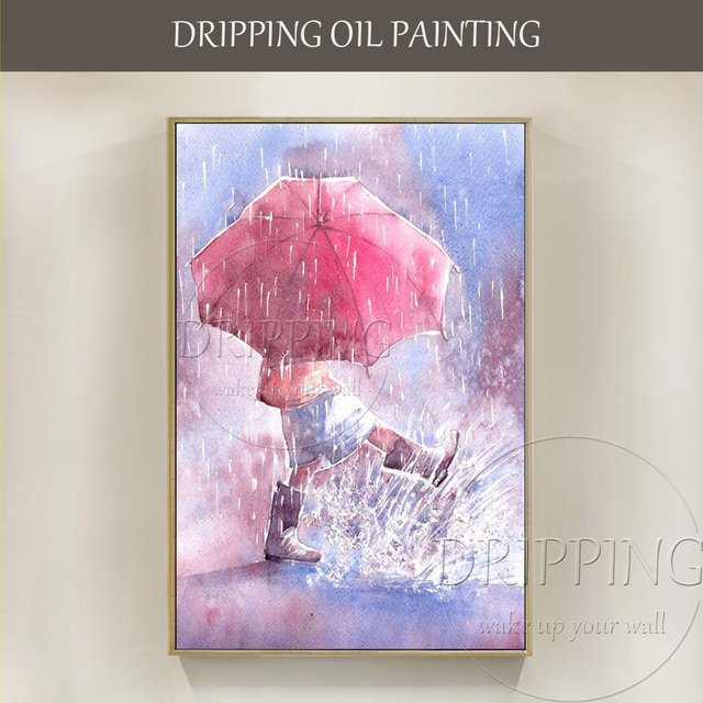 New Arrival Artist Hand painted Modern Wall Art Painting Kid Playing ...