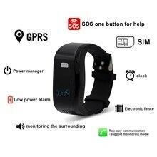 """Elektronischen zaun Smart Armband 0,49 """"OLED IP54 smartwatch alle kompatibel anti-verlorene für die aged child smart watch phone"""