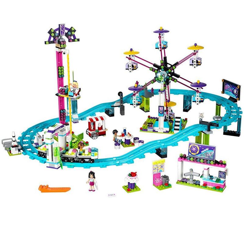 lepin 01008 Model building kits compatible legoing city girls friend Amusement Park 3D blocks Educational model building toys lepin 21004 ferrarie f40 sports car model legoing building blocks kits bricks toys compatible with 10248