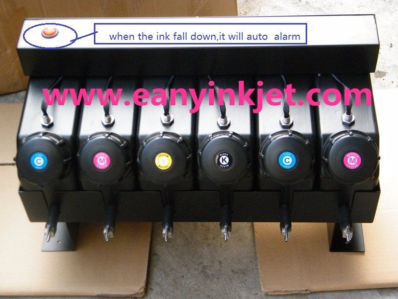 6 color UV bulk ink system with sensor for outdoor printer Plotter LED UV curable inkjet printer(not need cartridge)