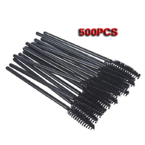 YOST Disposable Black Mascara Wand Applicator Brush Eye Applicators