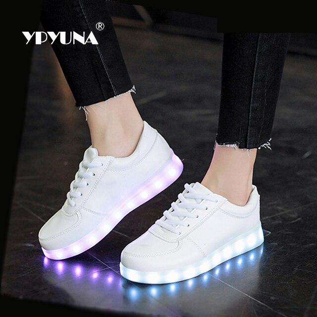 Ypyuna/USB подсветкой красовки светящиеся кроссовки светящиеся детская обувь детей с подошва со светодиодной подсветкой кроссовки для девочек и для мальчиков