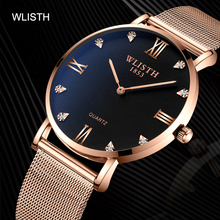 WLISTH2019 New Watch Casual Men's Watch Waterproof Quartz Watch  Stainless Steel  Buckle  Water Resistant  Relogio Masculino купить недорого в Москве