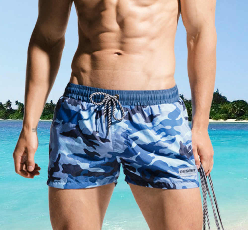 995699ec7d Camouflage Beach Shorts Mens Swimming Shorts Swimwear Quick Dry Bermuda  Surf Boardshorts Men Swim Short Trunk