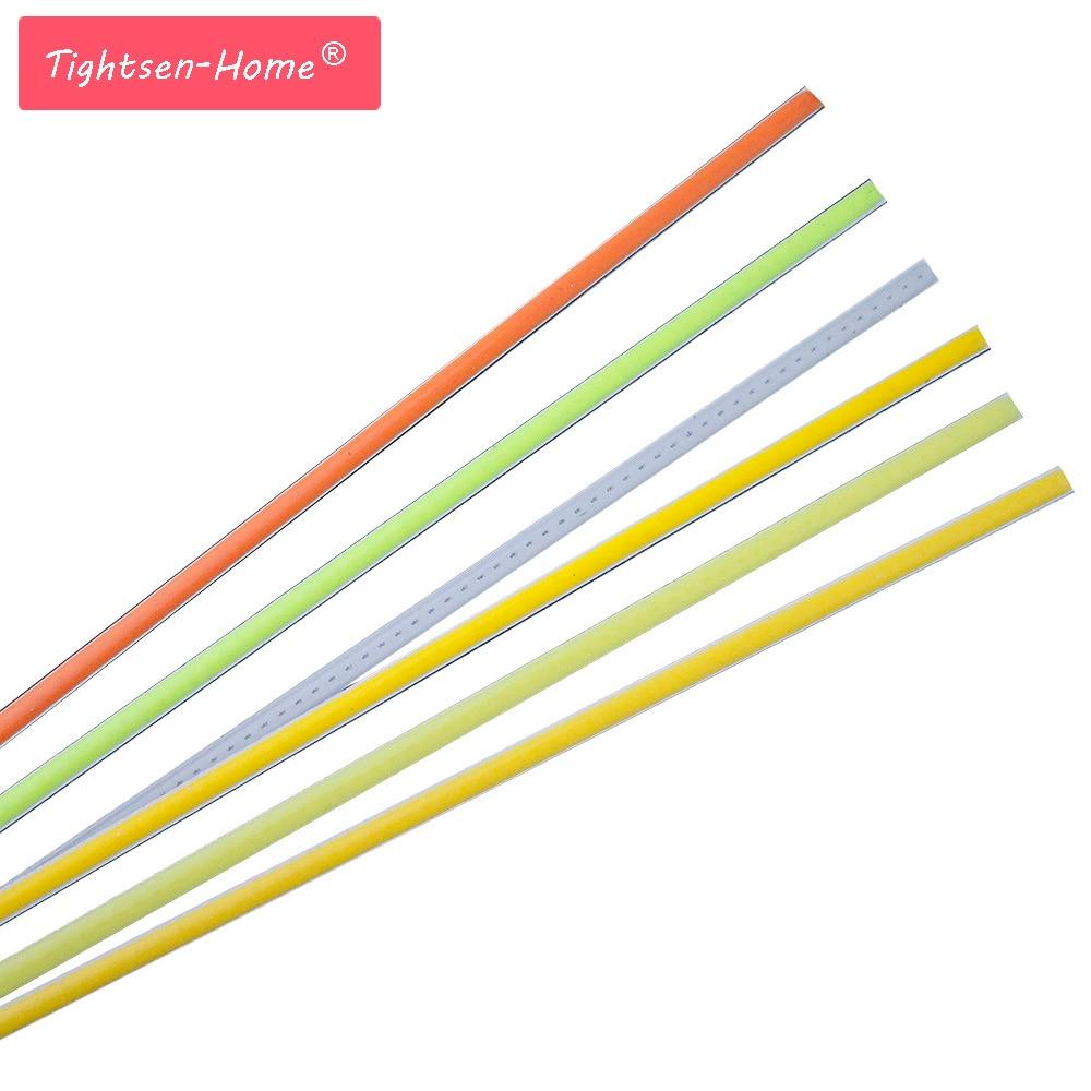 10PCS 12v COB LED Thin Strip 600mm*6mm Flexible Strip Bar Lights Red Warm White For 60cm Outdoor Indoor Light Cob Led Tubes