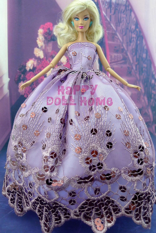 Au hasard choisir 5 pcs / lot main robe de soirée de mariage - Poupées et accessoires - Photo 6
