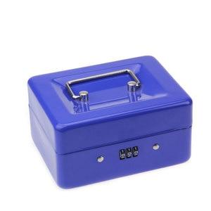 Image 5 - נירוסטה פטי כסף מזומן תיבת קופאית מנעול תיבת סיסמא בטוח קטן הבית 152*118*80 MM