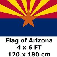 אריזונה 4X6FT 100D פוליאסטר דגל מדינה של ארה