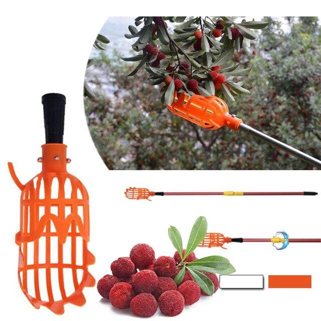 1 Pc 20*8*8 cm Bianco/Arancione Frutta Strumento di Raccolta di Plastica Senza P