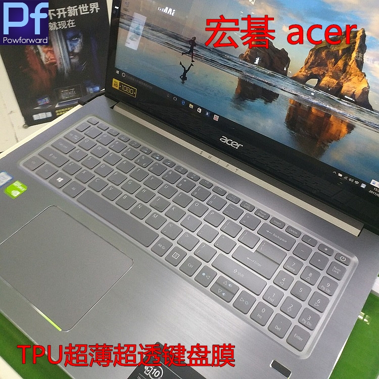"15 inch Ultra Thin TPU high Clear Keyboard Skin Cover Protector for 15.6"" Acer Swift 3 SF315"