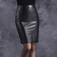 Высокое качество Лидер продаж офисные женские туфли пояса из натуральной кожи овчины Высокая талия мини юбки для женщин ПР Стиль