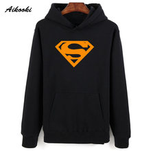 Aikooki Superman Hoodies Sweatshirt Men Women Pullover Hoody Shirts Autumn Warm Male/Female Superman Casual Clothes Hero Films(China)