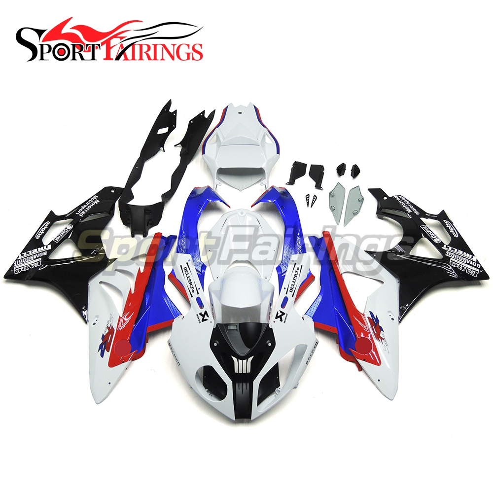 Motorcycle Fairing Kits Injection ABS Plastic For BMW S1000-RR S1000RR Year 2011 2012 2013 2014 Fairings Bodywork Whtie Blue Red image