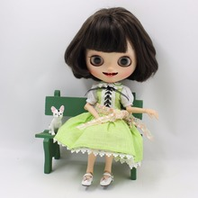 Neo Blythe Doll Green Dress