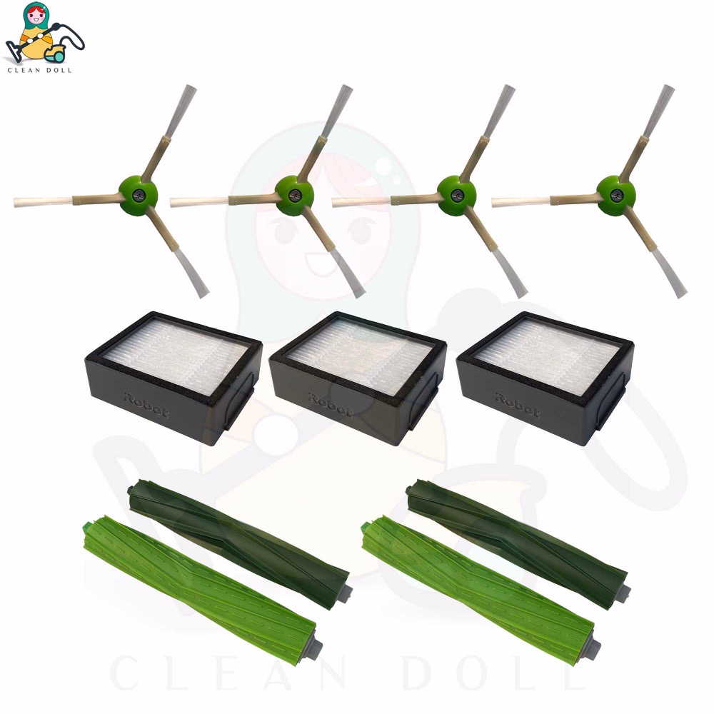 11-pack replacement parts for iRobot Roomba accessories side brush for iRobot Roomba e5 e6 i7 i7+HEPA filter  vacuum cleaner 11-pack replacement parts for iRobot Roomba accessories side brush for iRobot Roomba e5 e6 i7 i7+HEPA filter  vacuum cleaner