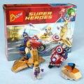 Marvel Капитан Америка VS. скорость Мотоцикла Супер Герои Блоки Кирпичи Игрушки Боевой колесницы Совместимый С 98049