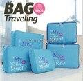 5pk/set saco de armazenamento bolsa de viagem de armazenamento organizadores